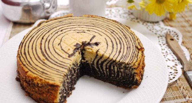 Так выглядит торт Зебра на сметане
