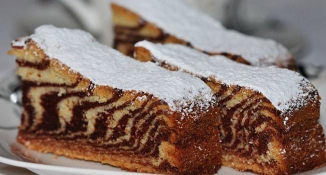 Торт-кекс Зебра классический