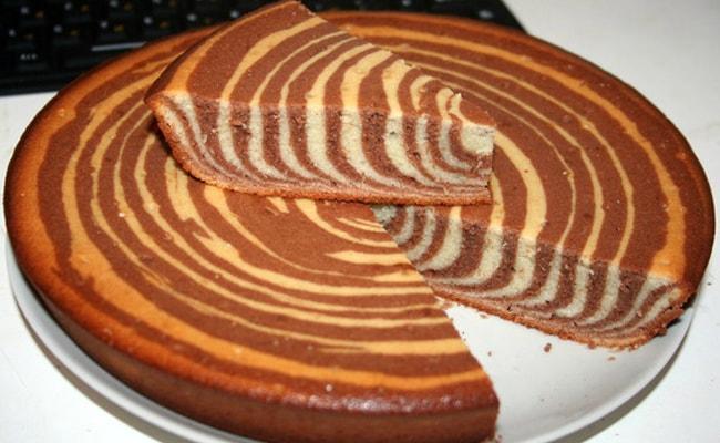 Так выглядит готовый торт Зебра на кефире