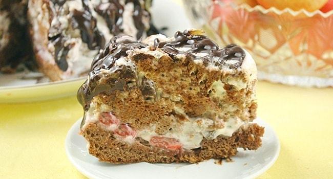 Торт Кучерявый пинчер со сметанным кремом