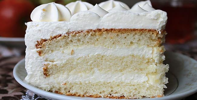 Рецепт торта Молочная девочка 🥝 с кремом пломбирным, пошаговый рецепт