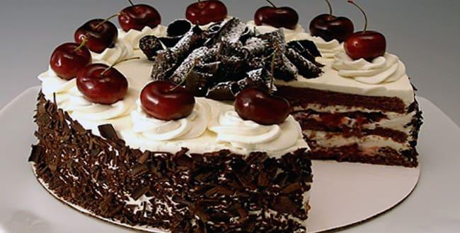 Пошаговый рецепт торта Зимняя вишня с фото