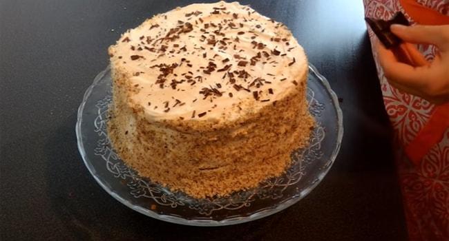 Так выглядит готовый торт Молочная девочка с маскарпоне