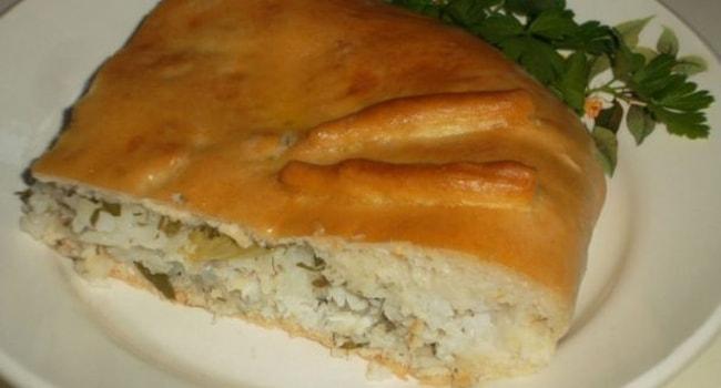 Рыбный пирог из скумбрии свежей