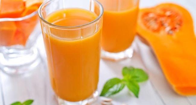 тыквенный сок с лимоном