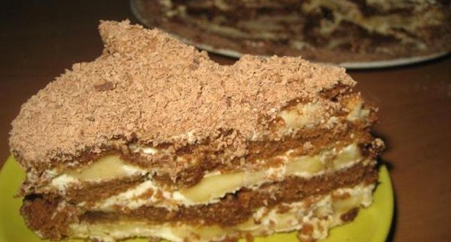 Торт без выпечки из пряников и сметаны