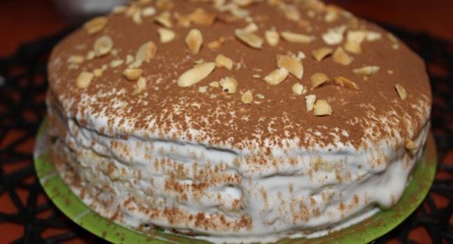 Так выглядит торт Молочная девочка