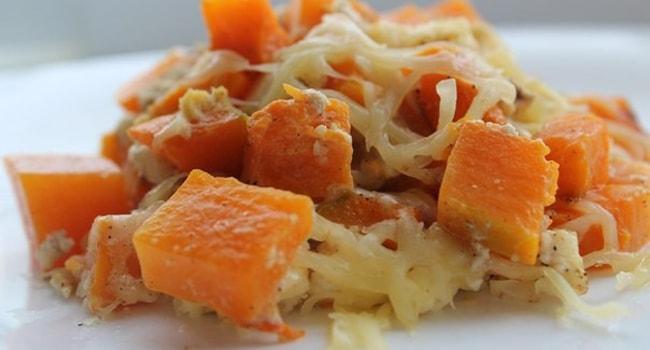 Так выглядит тыква с сыром запеченная в духовке