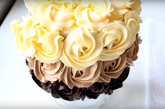 Белый шоколадно-сливочный крем из манки для торта