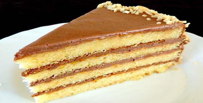 Пошаговый рецепт с фото Бисквитного торта со сгущенкой