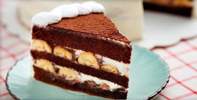 Пошаговый рецепт Шоколадно-бананового торта с фото