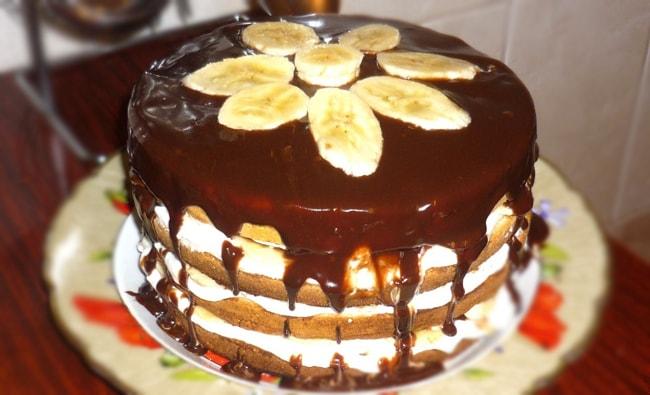 Шоколадный торт с бананово-сметанным кремом Источник httpwww.svoimirykami.clubp=10565&preview=true