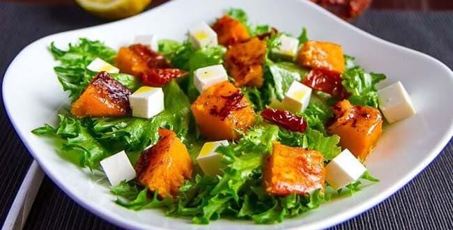 Салат из тыквы - пикантный вкус витаминных блюд: рецепт с фото и видео