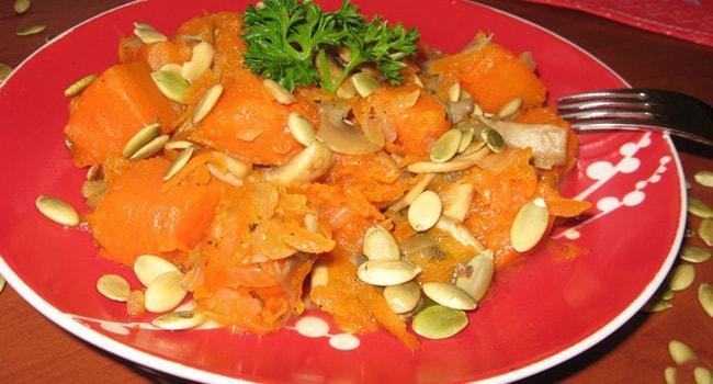 Вкусная тушеная тыква в мультиварке с овощами рецепты
