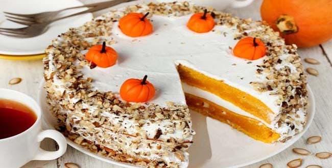Пошаговый рецепт торта из тыквы с фото