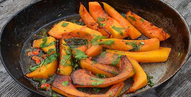 Пошаговый рецепт приготовления жареной тыквы с фото