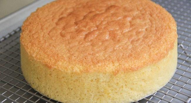 Готовый корж для Бисквитного торта с фруктами