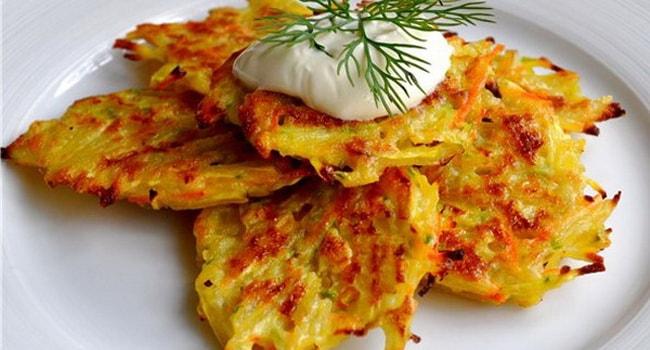 Аппетитные картофельные драники с тыквой и сыром