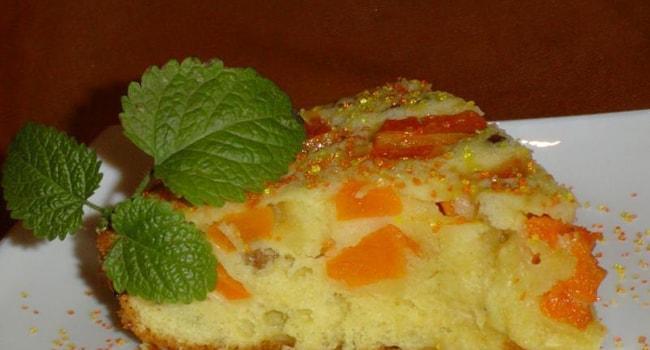 Шарлотка с яблоками и тыквой рецепт