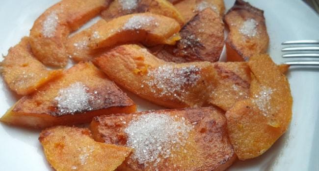 Вкусная тыква жареная на сковороде с сахаром