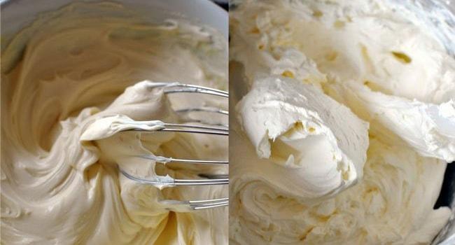 Крем с маскарпоне и сливками для торта