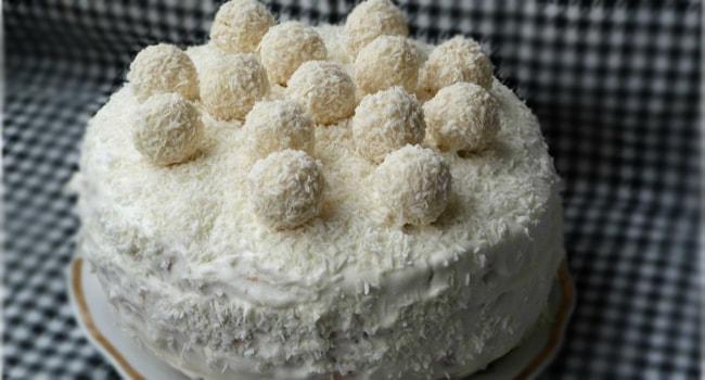Торт Рафаэлло простой рецепт в мультиварке