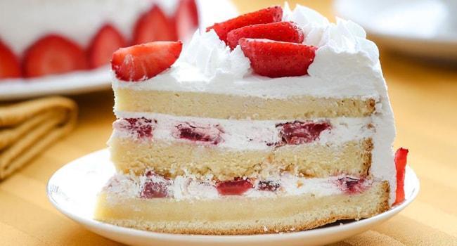 Бисквитный торт с фруктами в домашних условиях