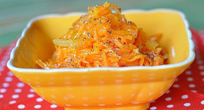 Рецепт салата с тыквой по-корейски