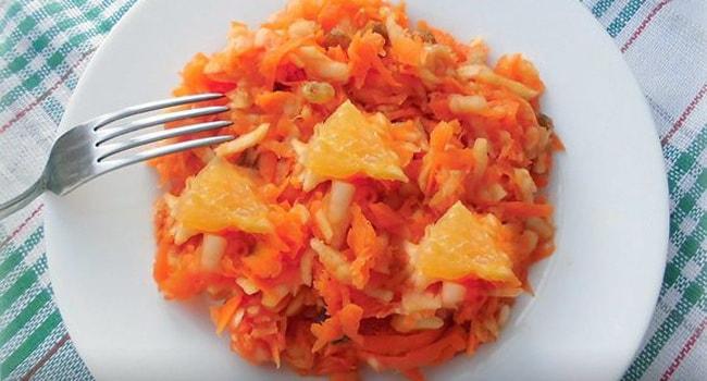 Очень полезный салат из тыквы с апельсином