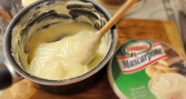 Простой заварной крем с маскарпоне рецепт