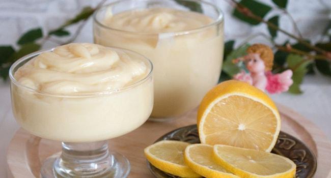 Так выглядит заварной крем Пломбир с лимоном