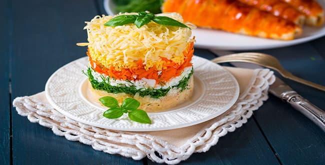 Пошаговый рецепт салата Французский с фото