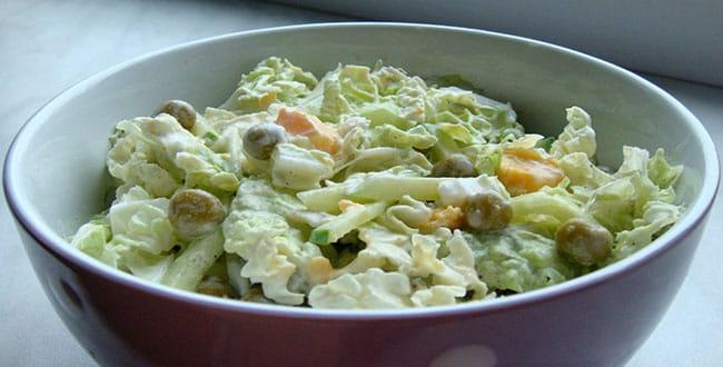 Пошаговый рецепт легкого салата из пекинской капусты