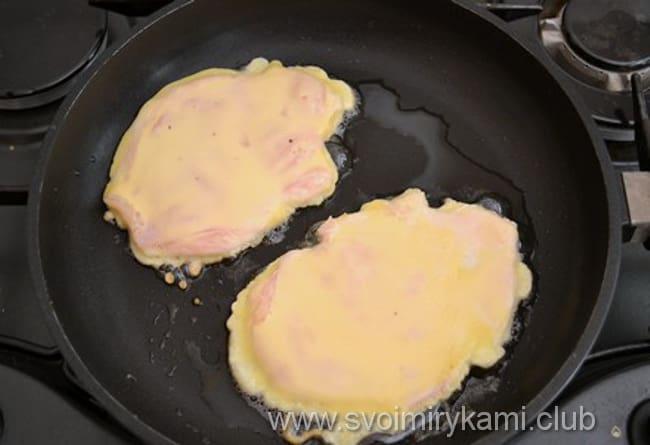 Куриные отбивные в кляре жарим на сковороде