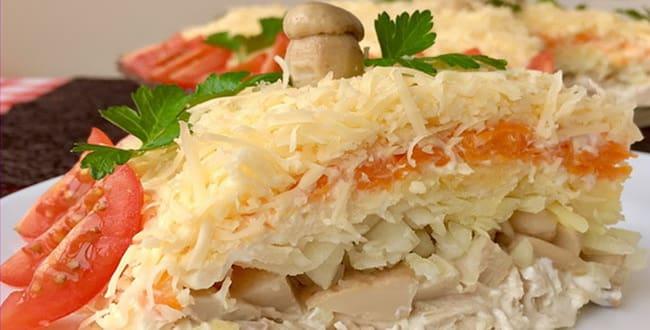 Пошаговый рецепт салата Русская красавица