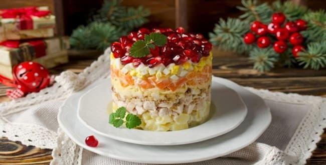 Пошаговый рецепт салата Красная шапочка с фото