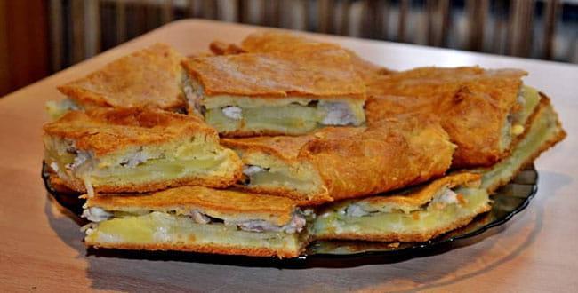 Пошаговый рецепт пирога с курицей и картошкой