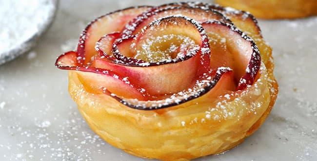 Пошаговый рецепт булочек розочки с яблоками