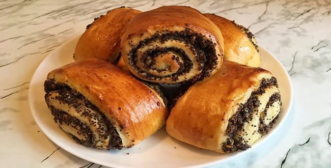 Пошаговый рецепт приготовления булочек с маком из дрожжевого теста