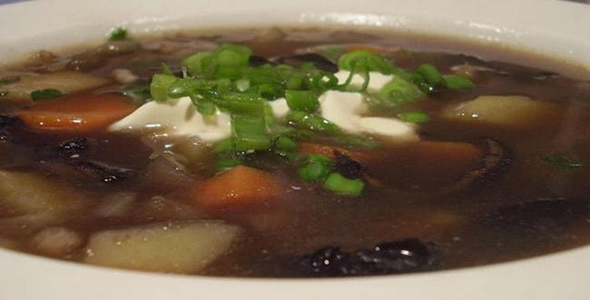 Пошаговый рецепт приготовления грибного супа из сушеных грибов