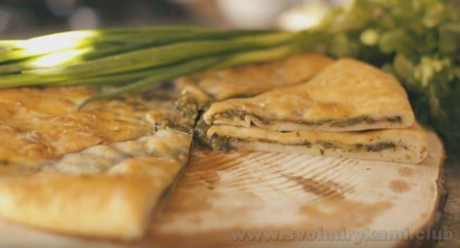 Смотрите рецепт осетинского пирога с мясом также на видео.