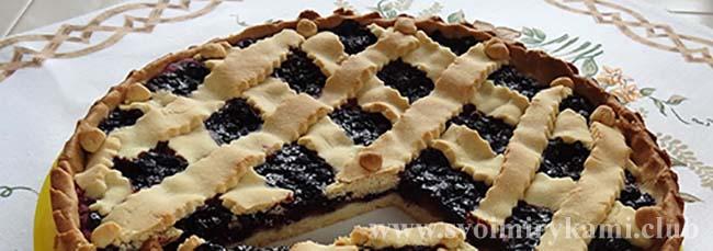 Наслаждаемся вкусным песочным пирогом с черникой