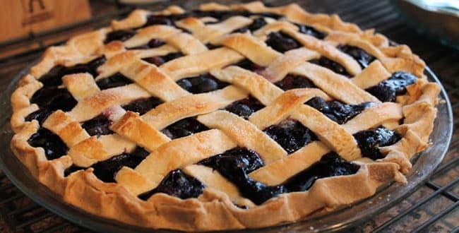 Песочный пирог с черникой 🥝 заливной, открытый, быстрый, вкусный