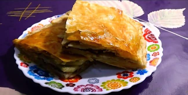 Пирог с консервой рыбной 🥝 заливной, быстрый