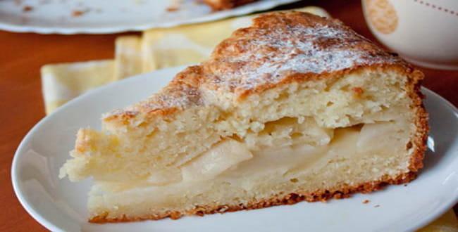 Пошаговый рецепт пирога с творогом и яблоками