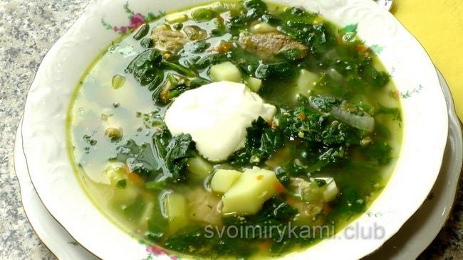 Вкуснейший суп со щавелем.