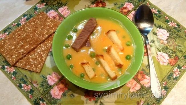Вкуснейший гороховый суп пюре.
