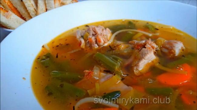 Вкуснейший суп из кролика.