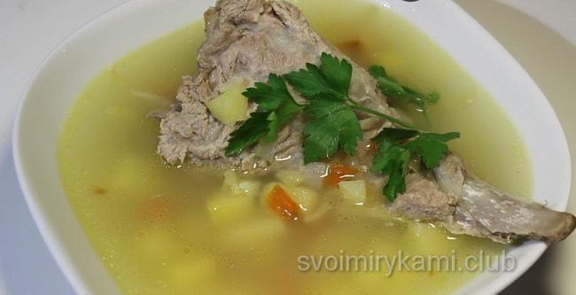 Вкуснейший суп со свининой.