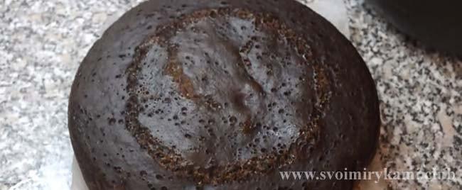 Корж для торта Черный принц готов